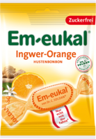 EM EUKAL Bonbons Ingwer Orange zuckerfrei